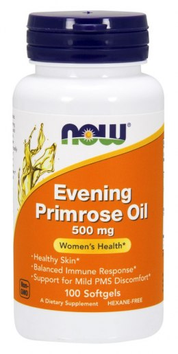 Evening Primrose Oil (olej z wiesiołka) 100 kaps. NOW FOODS