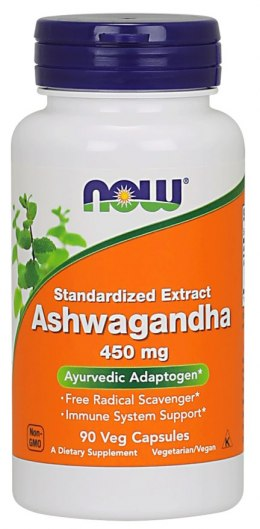 Ashwagandha Extract 90 kaps. NOW FOODS